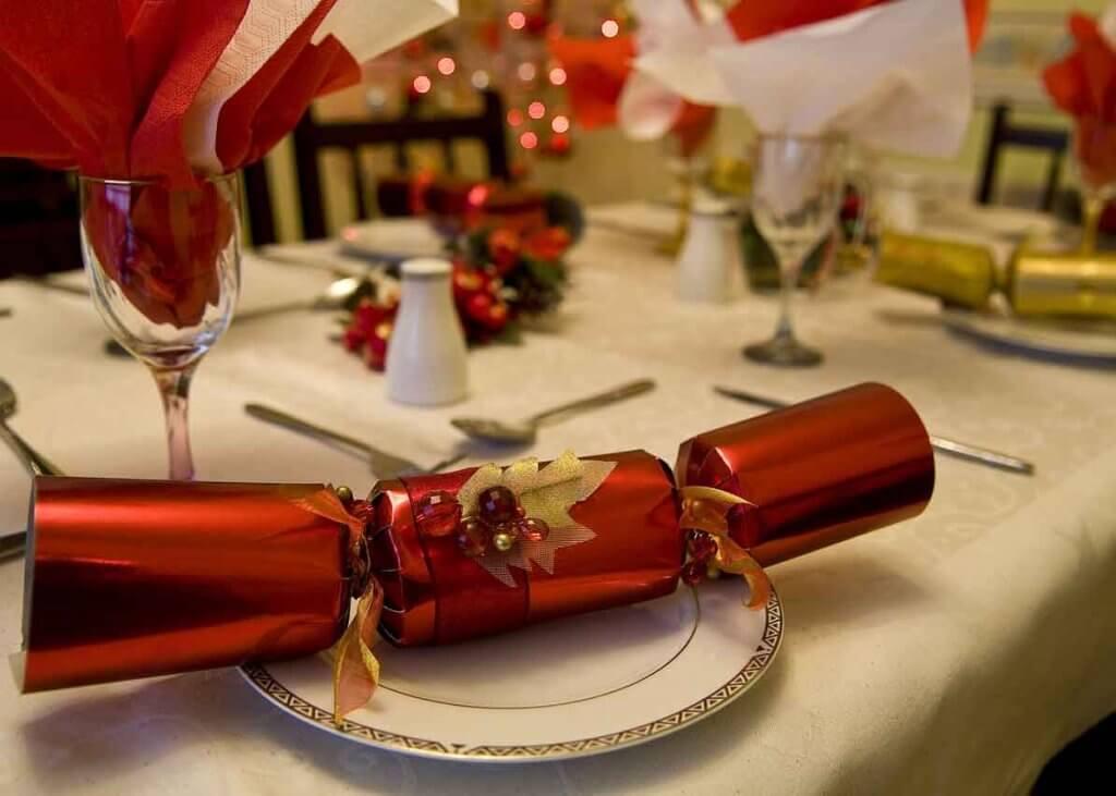 Gedeckter Weihnachtstisch für Gewerbeverein Muehlenbecker Land Weihnachtsfeier