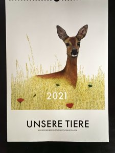 Jahreskalender 2021 mit Kugelschreiberkunst 7