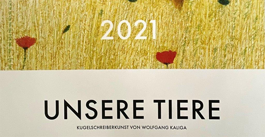 Jahreskalender 2021 mit Kugelschreiberkunst 2